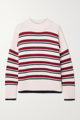 La Ligne Marin Striped Wool And Cashmere-blend Sweater - Off-white