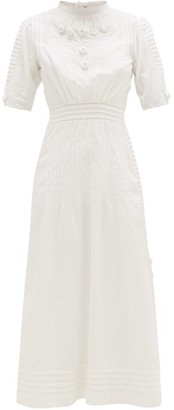 Mimi Prober - Ada Embroidered Cotton-voile Dress - Womens - White