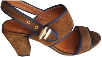 Vanessa Bruno Brown Suede Sandals