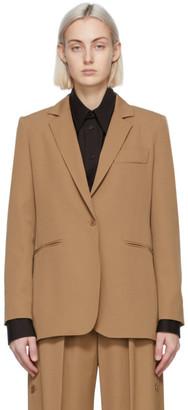 Max Mara Tan Wool Accorta Blazer