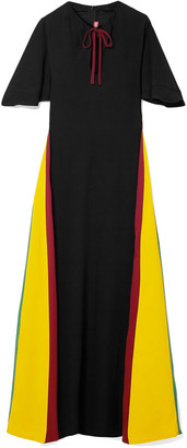 STAUD Color-block Crepe Maxi Dress