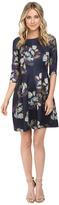 Christin Michaels Emellie 3/4 Sleeve Fit and Flare Dress
