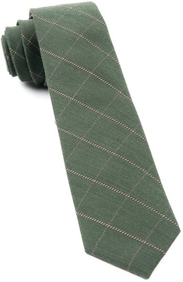 The Tie BarThe Tie Bar Army Green Goalpost Pane Tie