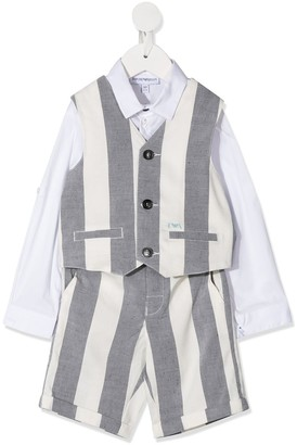 Emporio Armani Kids Linen Short Set