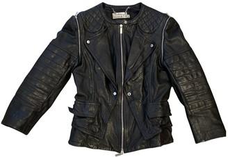 Karen Millen Black Leather Jacket for Women