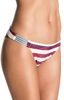 Roxy Women's Reversible 70's Braided Liberty Bikini Bottom