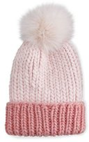 Eugenia Kim Rain Hat with Fur Pom Pom, Pink
