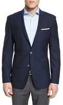 HUGO BOSS Hutson Grid Two-Button Sport Coat, Bright Blue/Navy