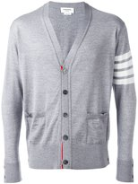 Thom Browne contrast cardigan - men - Wool - 2