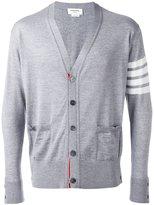 Thom Browne contrast cardigan - men - Wool - 4