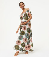 LOFT Maternity Marigold Off The Shoulder Maxi Dress
