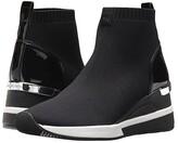 MICHAEL Michael Kors Skyler Bootie (Black Soft Knit/Patent) Women's Boots