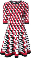 Oscar de la Renta graphic patterned dress