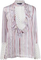 Giambattista Valli striped ruffled blouse