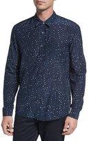 Vince Pencil Dot Sport Shirt, Navy
