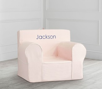 Pottery Barn Kids Oversized Blush with White Piping Anywhere Chair Slipcover Only