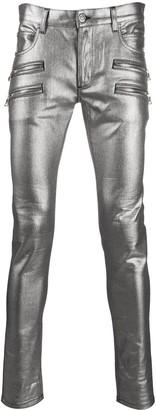 Balmain Zipped Detail Slim Jeans