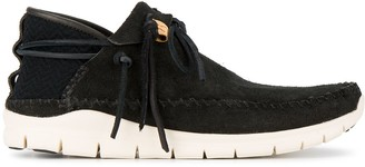 Visvim black UTE Moc Folk sneakers