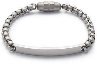 Kenneth Cole Reaction Men Silver-Tone Plaque Bracelet