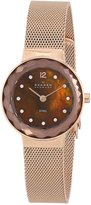 Skagen Women's 456SRR1 Leonora Quartz 2 Hand Rose Gold-Tone Watch