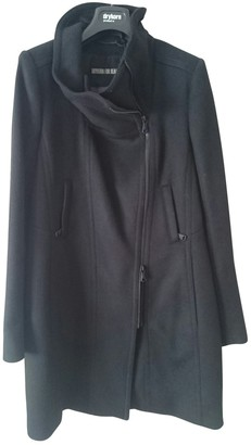 Drykorn Black Wool Coat for Women
