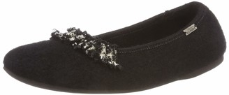 Living Kitzbühel Women's Ballerina mit Wollborte Low-Top Slippers