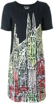 Moschino printed T-shirt dress - women - Polyester/other fibers - 44