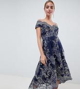 Bardot City Goddess Petite Lace Midi Dress