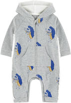 Little Marc Jacobs Printed fleece longall with a hood
