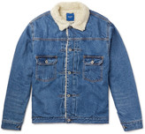 Beams Japan Faux Shearling-Lined Denim Jacket
