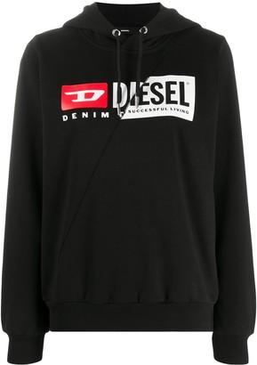 Diesel Patchwork Logo Hoodie