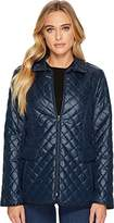 Ellen Tracy Womens Short Quilted Jacket