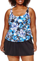 AZUL BY MAXINE OF HOLLYWOOD Azul by Maxine of Hollywood Floral Swim Dress Plus
