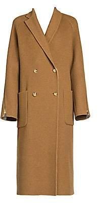Fendi Men's Zip Detail Double-Breasted Coat