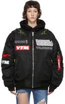 Vetements Black Alpha Industries Edition Motorcycle Bomber Jacket