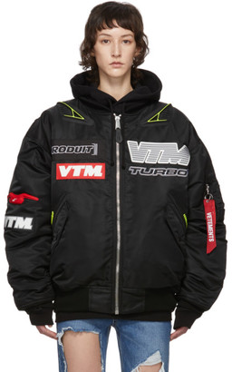 Vetements Black Alpha Industries Edition Motorcycle Bomber Jacket