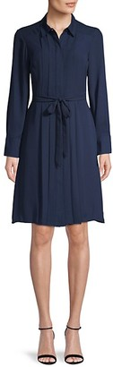 Nanette Lepore Pleated Front Belted Shirtdress