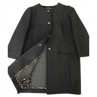 Dolce & Gabbana Anthracite Wool Coat for Women
