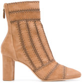 Alexandre Birman woven booties - women - Calf Leather/Leather - 36