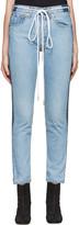 Off-White SSENSE Exclusive Indigo Twig High Slim Join Jeans