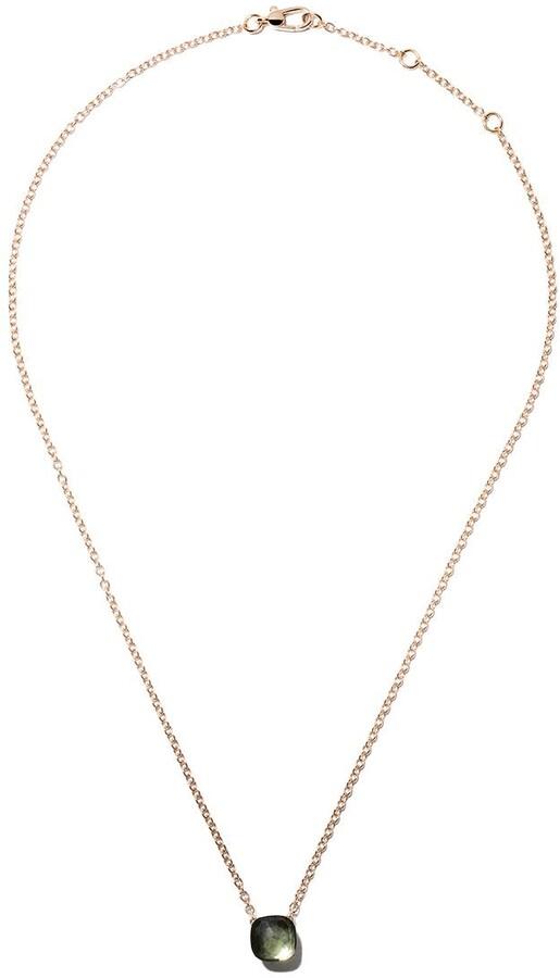 Pomellato 18kt rose & white gold Nudo prasiolite pendant necklace