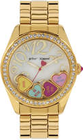 Betsey Johnson Women's Gold-Tone Bracelet Watch 40mm BJ00048-181