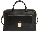 Ted Baker Luggage Lock Leather Satchel - Black