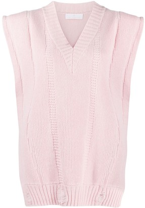 Ami Amalia Oversized Merino-Knit Sleeveless Jumper