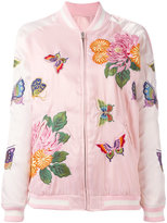 P.A.R.O.S.H. floral embroidery bomber jacket - women - Polyester - S