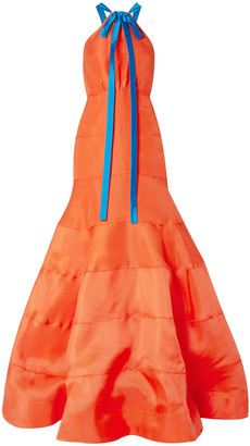 Rosie Assoulin Bow-embellished Silk-gazar Gown