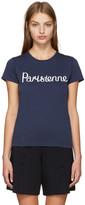 MAISON KITSUNÉ Navy 'Parisienne' T-Shirt