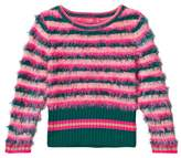 Le Big Pink and Navy Stripe Fluffy Sweater