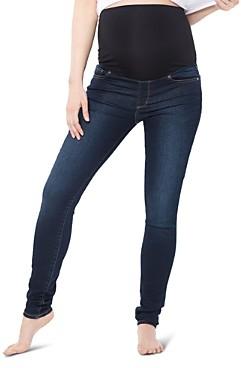 Nom Maternity Soho Over-the-Belly Skinny Jeans in Dark Blue