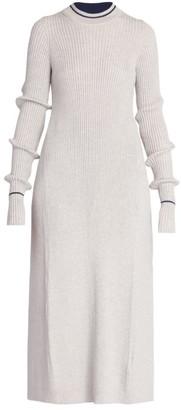 Maison Margiela Long Open Back Wool-Blend Top